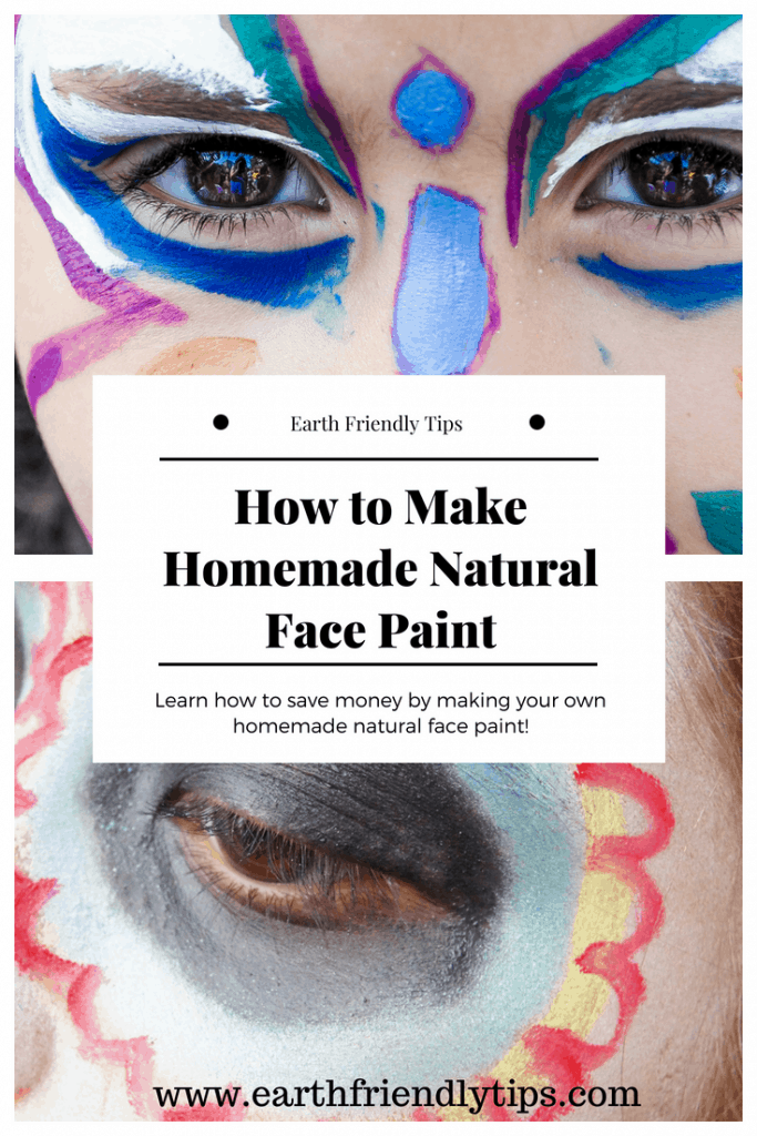 Close-up of children with painted faces text overlay How to Make Natural Homemade Face Paint