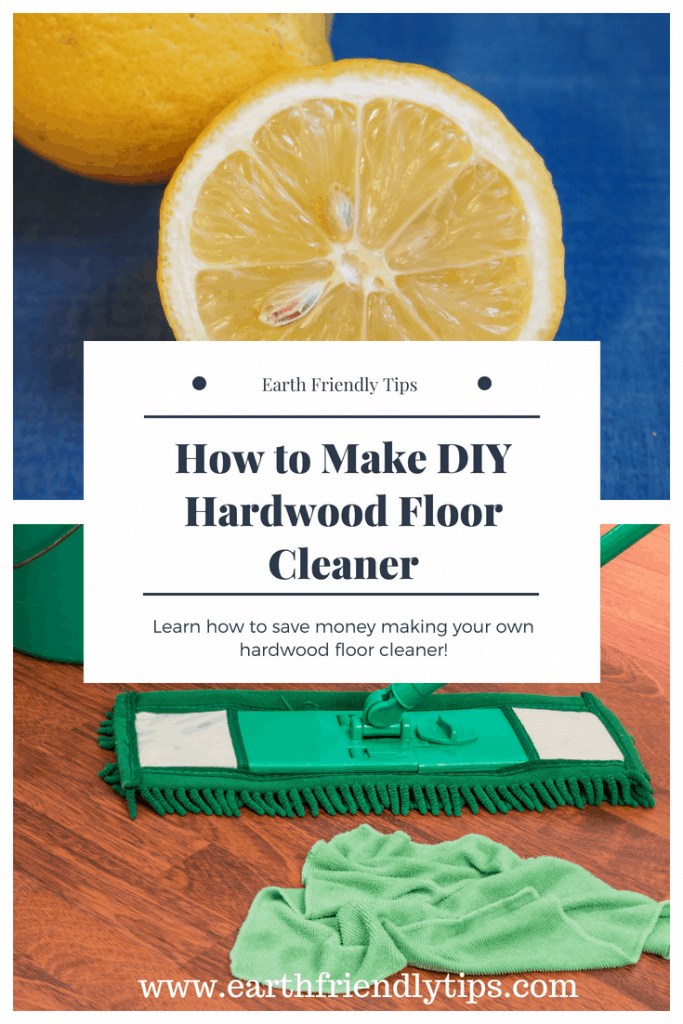 Lemon wedge and mop with text overlay How to Make DIY Hardwood Floor Cleaner