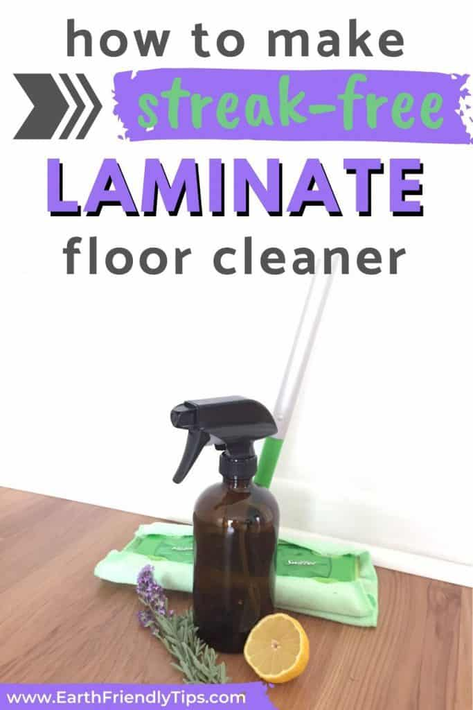 Mop and laminate floor cleaner text overlay How to Make Streak-Free Laminate Floor Cleaner
