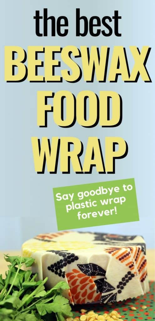 Bowl covered with reusable food wrap text overlay The Best Beeswax Food Wrap