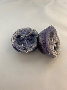 Handmade lavender loofah soap