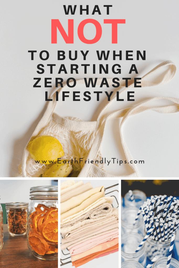Collage of mesh bag, mason jars, paper straws, and reusable cloth