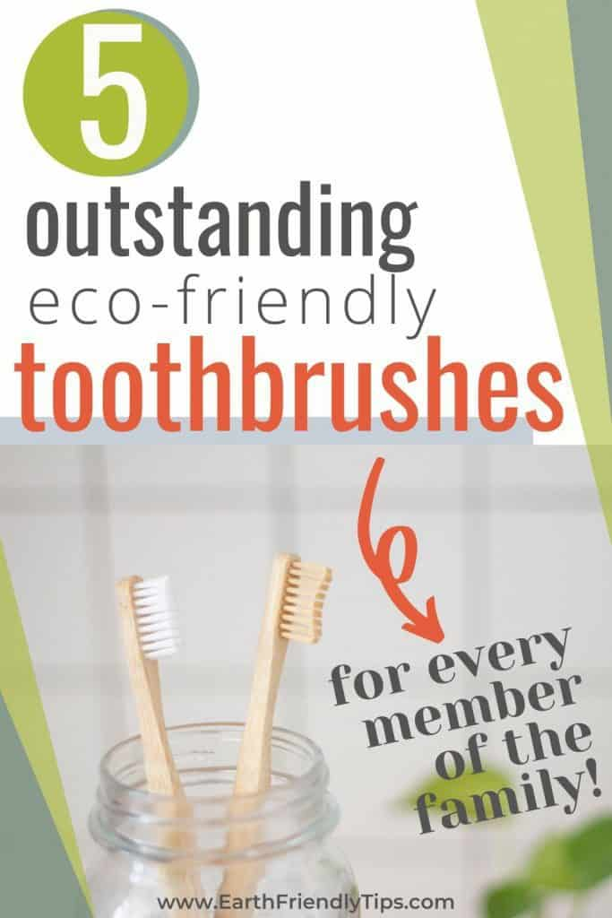 Bamboo toothbrushes with text overlay 5 Outstanding Eco-Friendly Toothbrushes