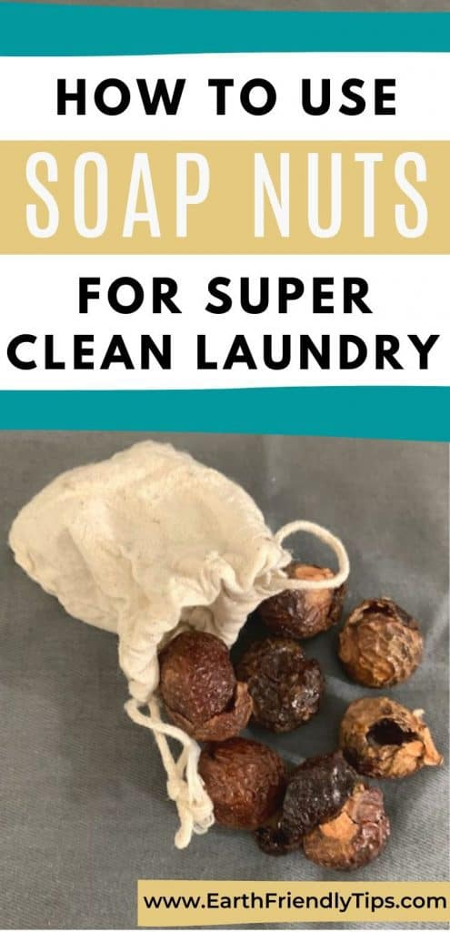Bag of soap nuts text overlay How to Use Soap Nuts for Super Clean Laundry