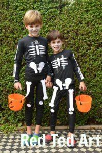 Homemade skeleton Halloween costume