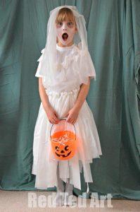 Homemade Halloween bride costume