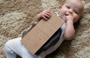 Baby in S'mores DIY Halloween costume