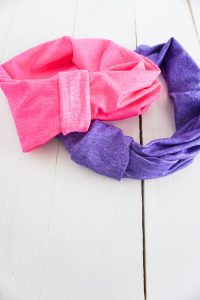 Upcycled T-shirt headbands