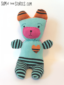 Upcycled sock teddy