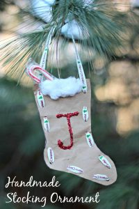 Upcycled Christmas stocking