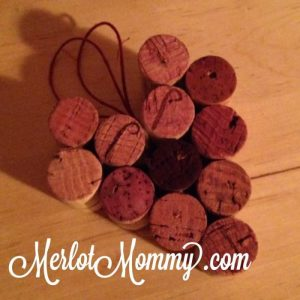 Upcycled wine cork heart