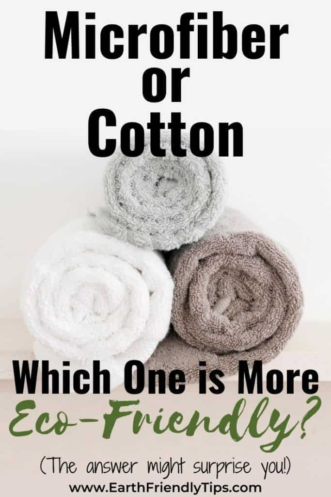 Rolled up towels text overlay Microfiber or Cotton Which One Is More Eco-Friendly