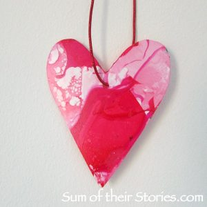 Upcycled plastic heart
