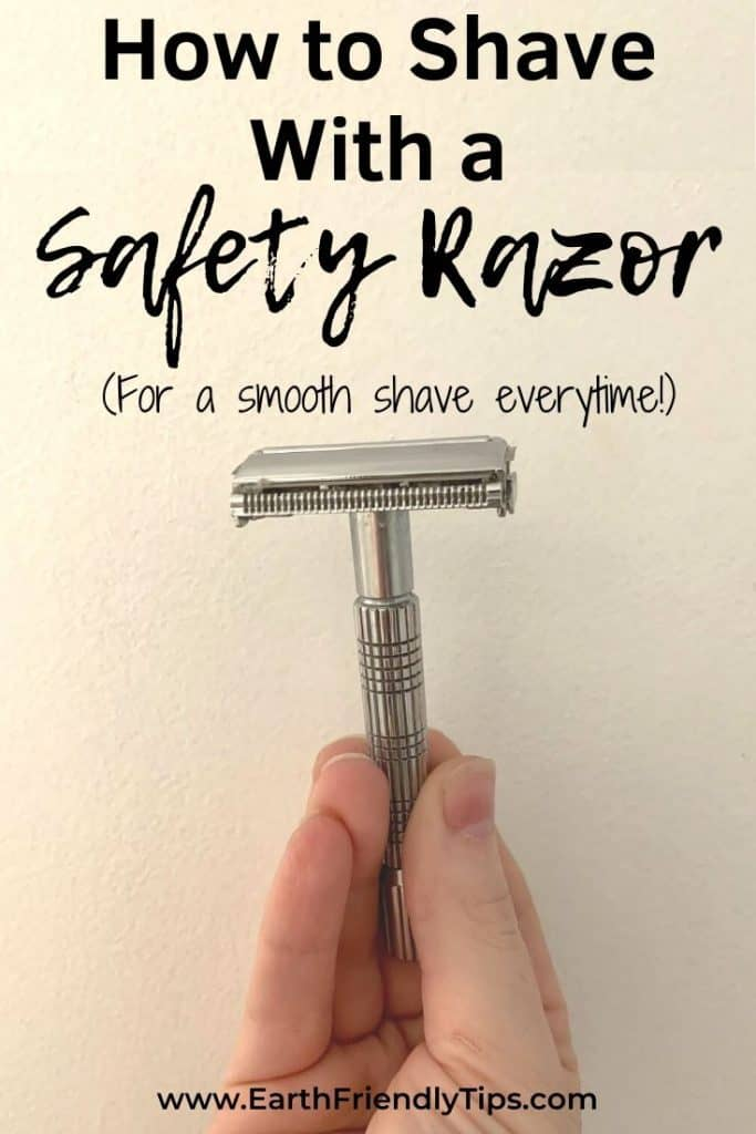 Hand holding safety razor text overlay How to Shave With a Safety Razor