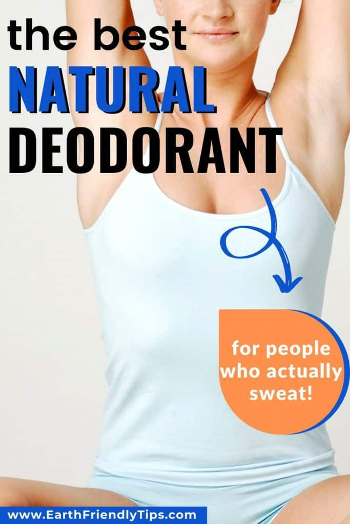 Woman stretching text overlay The Best Natural Deodorant