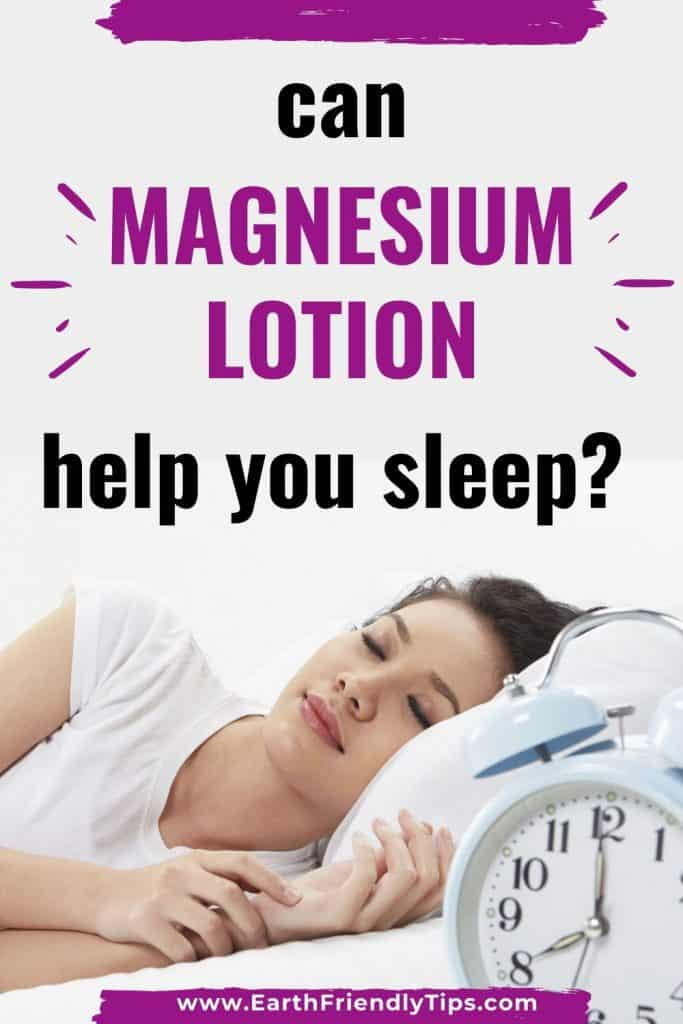 Woman sleeping text overlay Can Magnesium Lotion Help You Sleep?