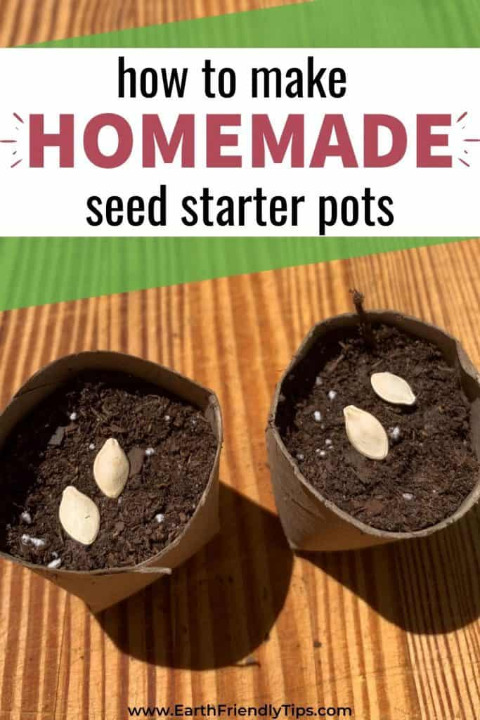 Seed starter pots with text overlay How to Make Homemade Seed Starter Pots