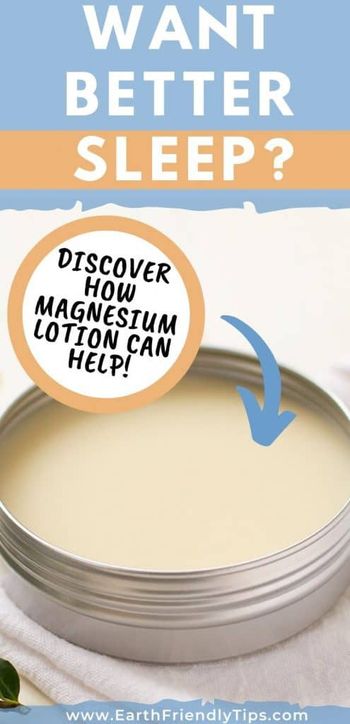 Tin of magnesium lotion text overlay Discover How Magnesium Lotion Helps Sleep