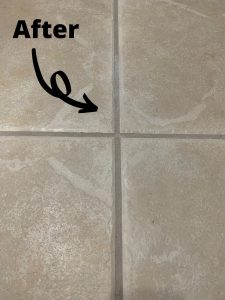 Clean grout after using DIY grout cleaner