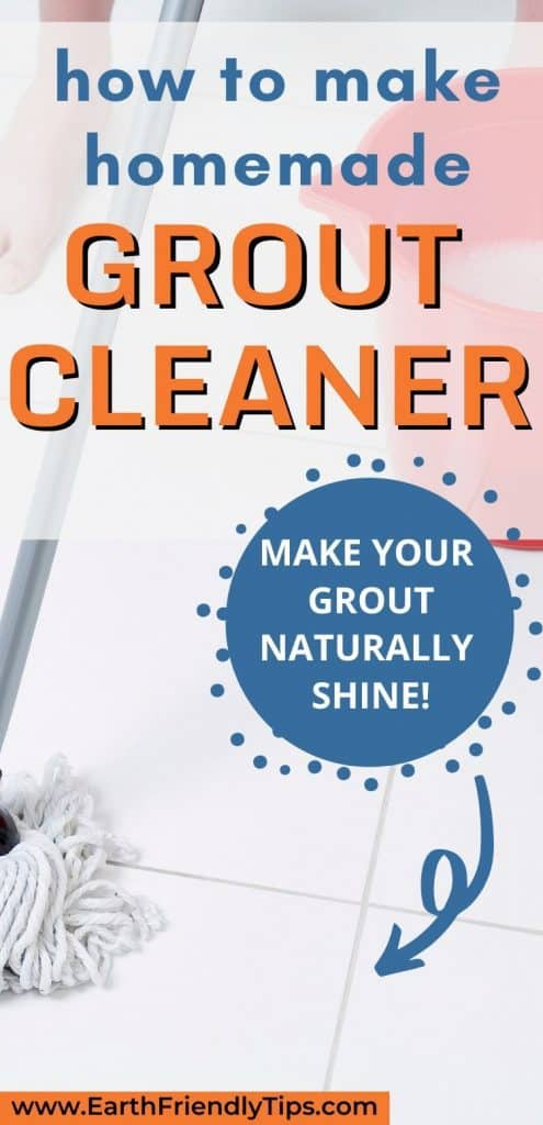Mop cleaning tile floor text overlay How to Make Homemade Grout Cleaner