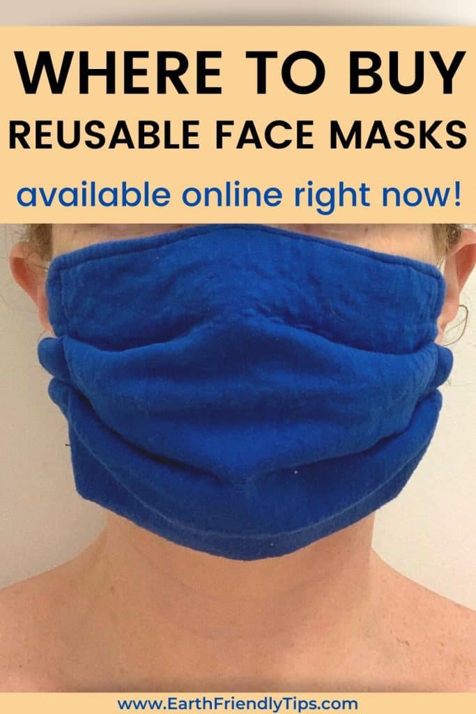 Person wearing reusable face mask text overlay Where to Buy Reusable Face Masks