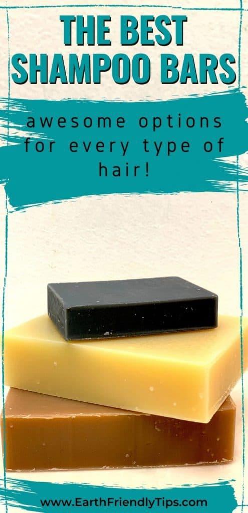 Stack of shampoo bars text overlay The Best Shampoo Bars