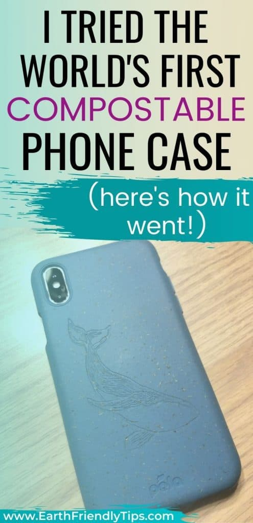 Pela case on phone text overlay I Tried the World's First Compostable Phone Case