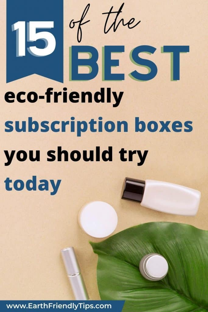 Flatlay with leaf and makeup text overlay 15 of the Best Eco-Friendly Subscription Boxes