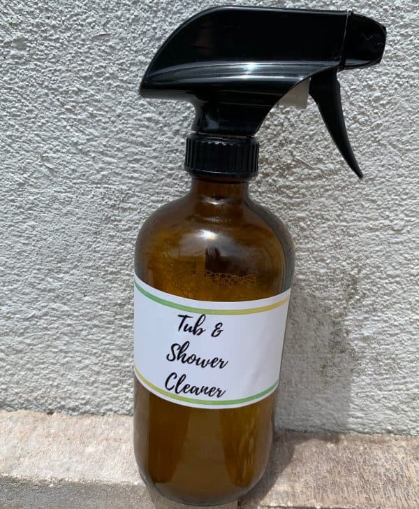 Bottle of tub and shower cleaner