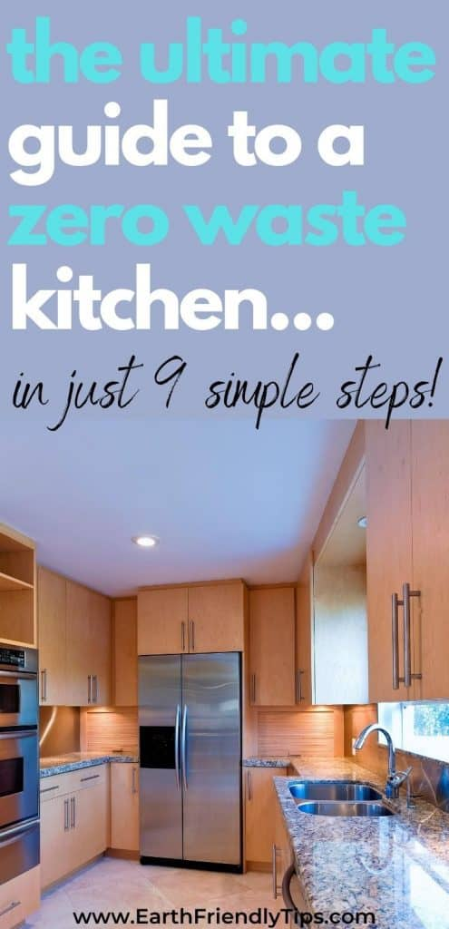 Modern kitchen with text overlay The Ultimate Guide to a Zero Waste Kitchen