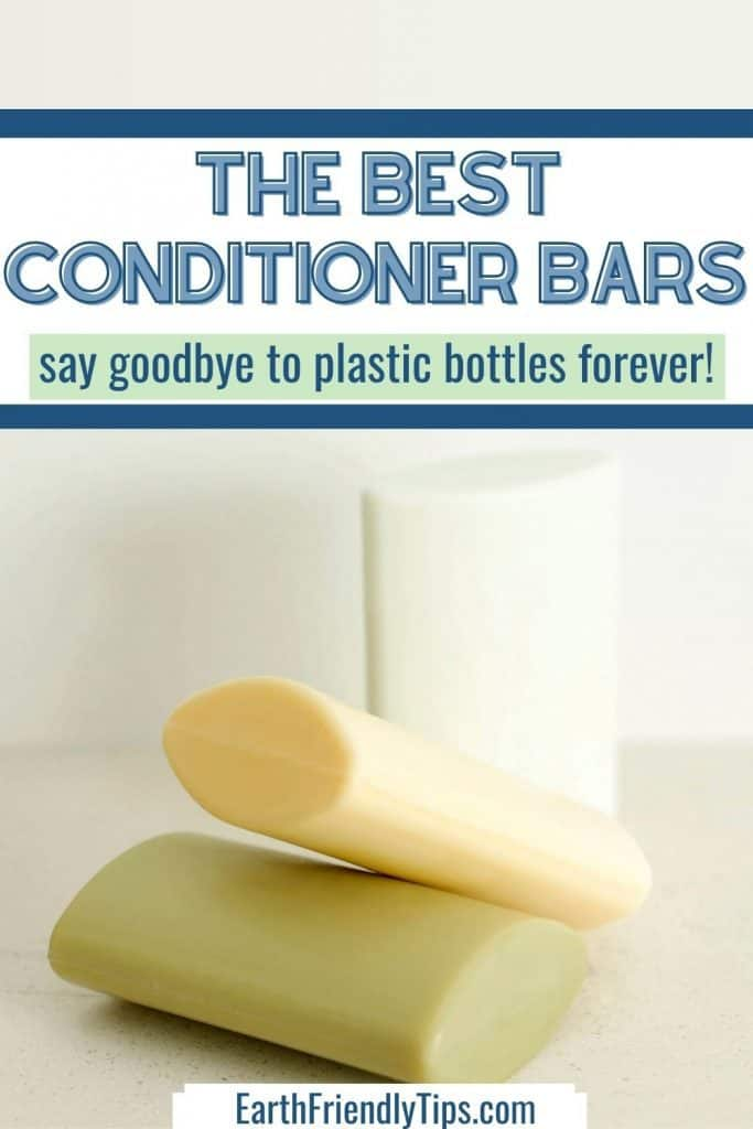 Stack of conditioner bars with text overlay The Best Conditioner Bars